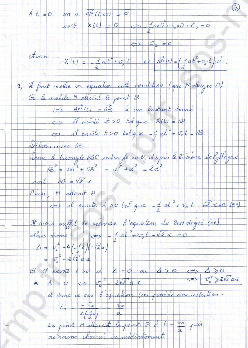 sos-mp.fr - Mécanique - Mouvement rectiligne uniformément accéléré - Exo2-3