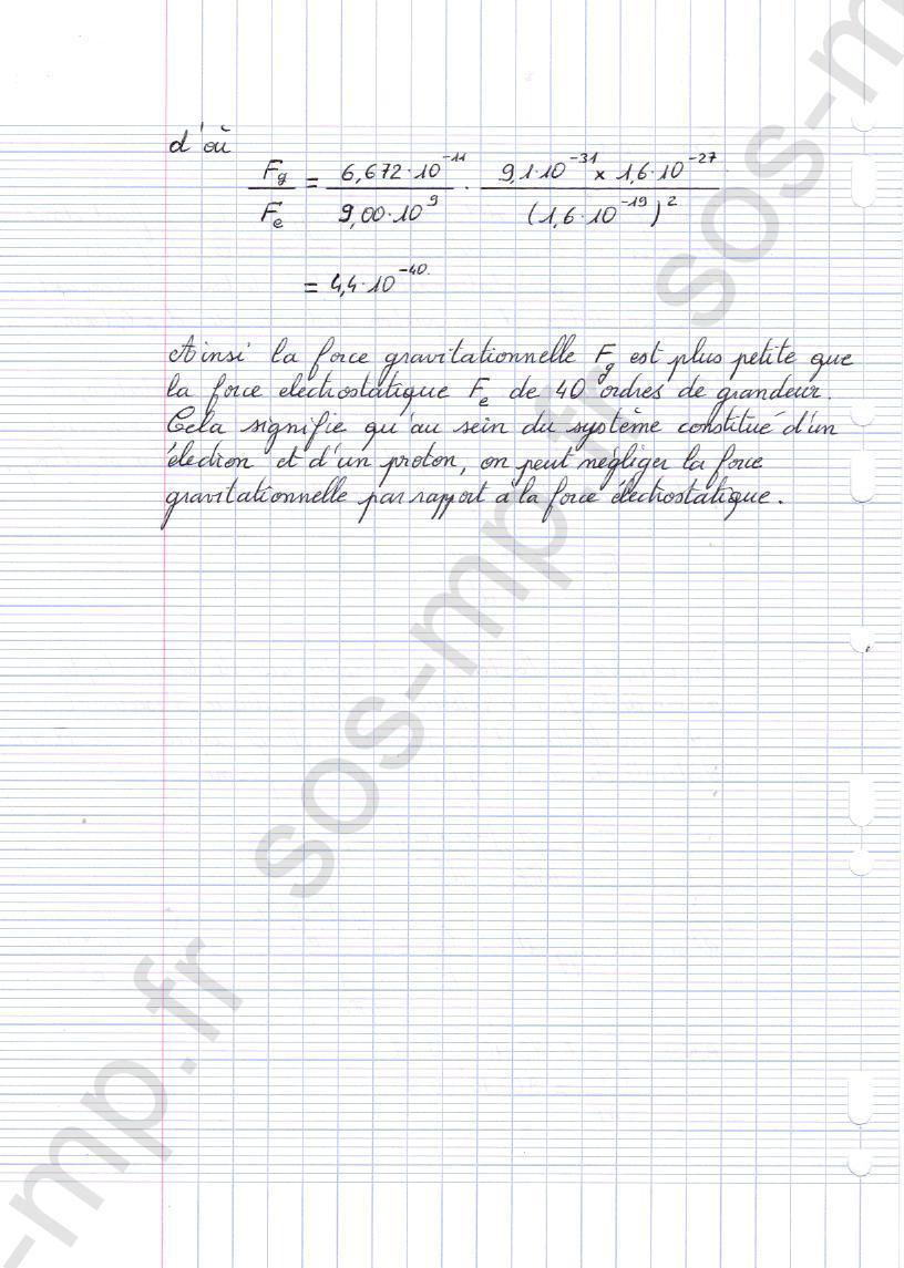sos-mp.fr - Mécanique - Compétition entre interactions fondamentales - Exo2-2
