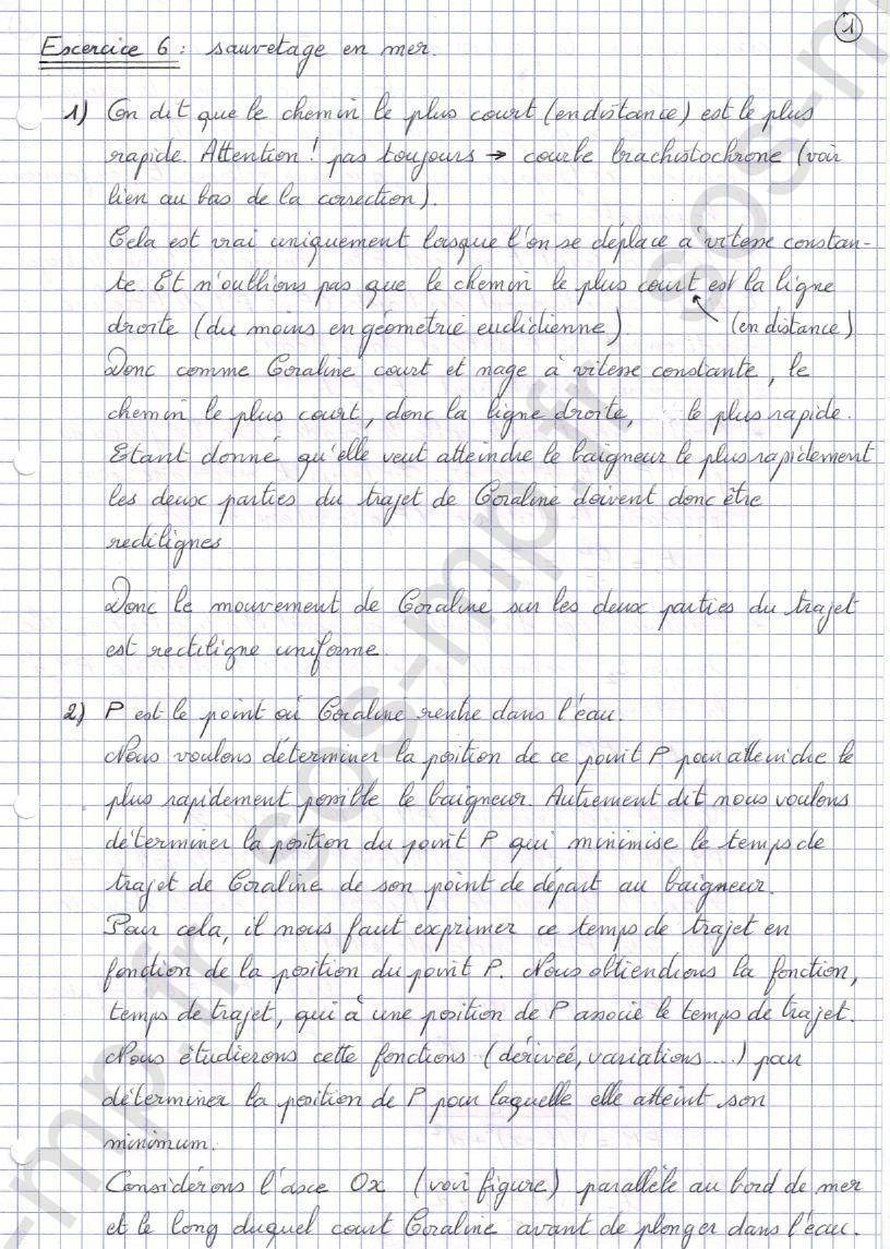 sos-mp.fr - Mécanique - Sauvetage en mer - Exo6-1