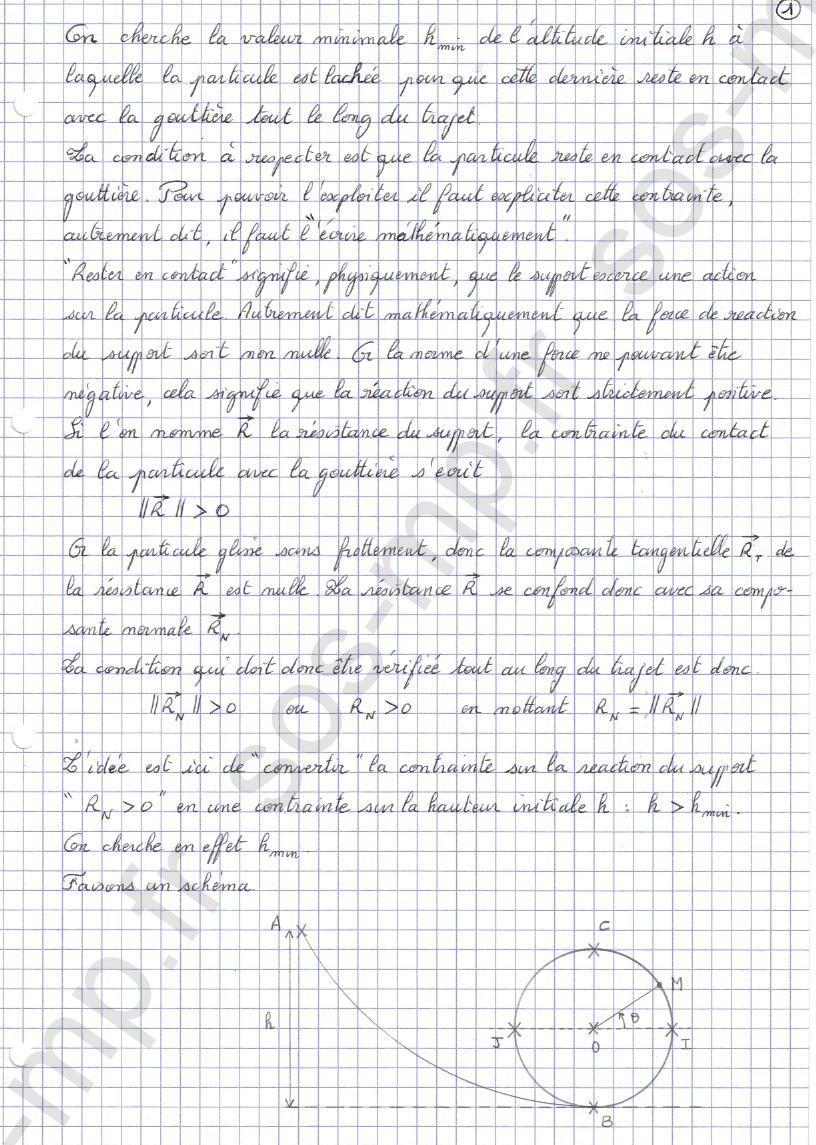 sos-mp.fr - Mécanique - Condition de contact - Exo8-1