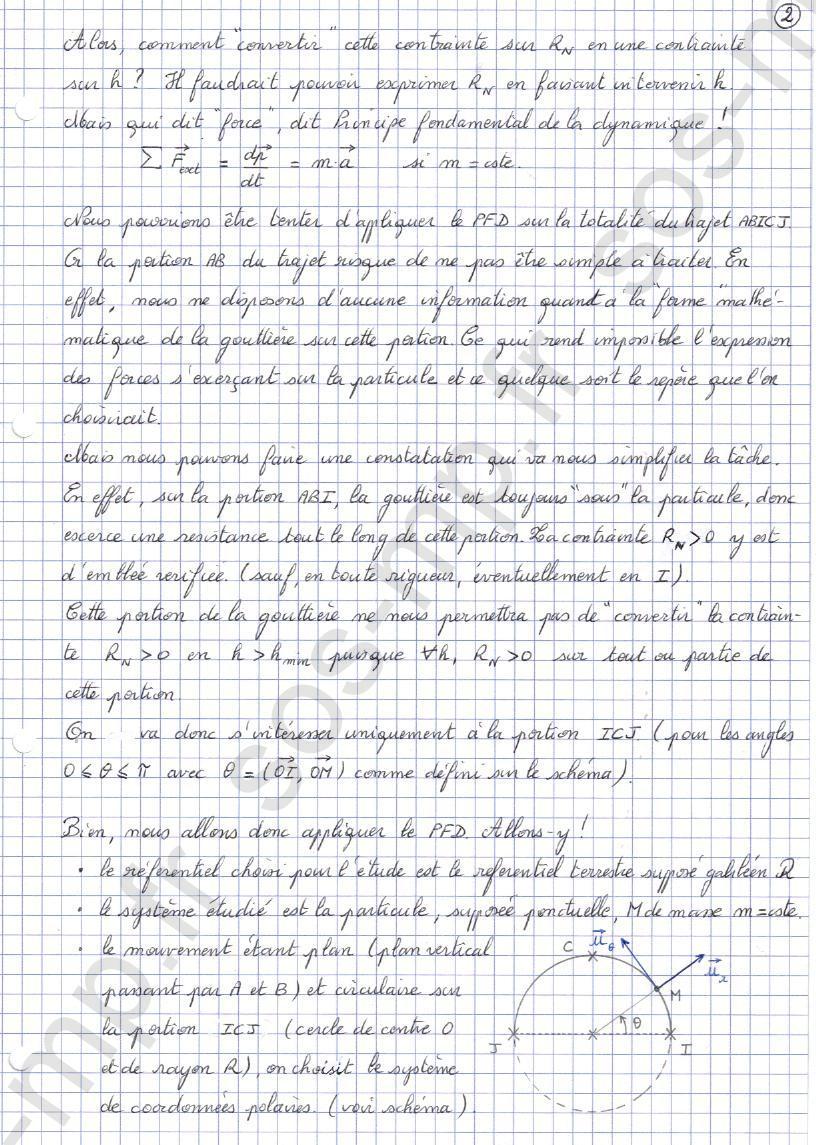 sos-mp.fr - Mécanique - Condition de contact - Exo8-2
