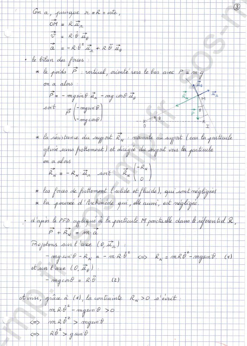 sos-mp.fr - Mécanique - Condition de contact - Exo8-3