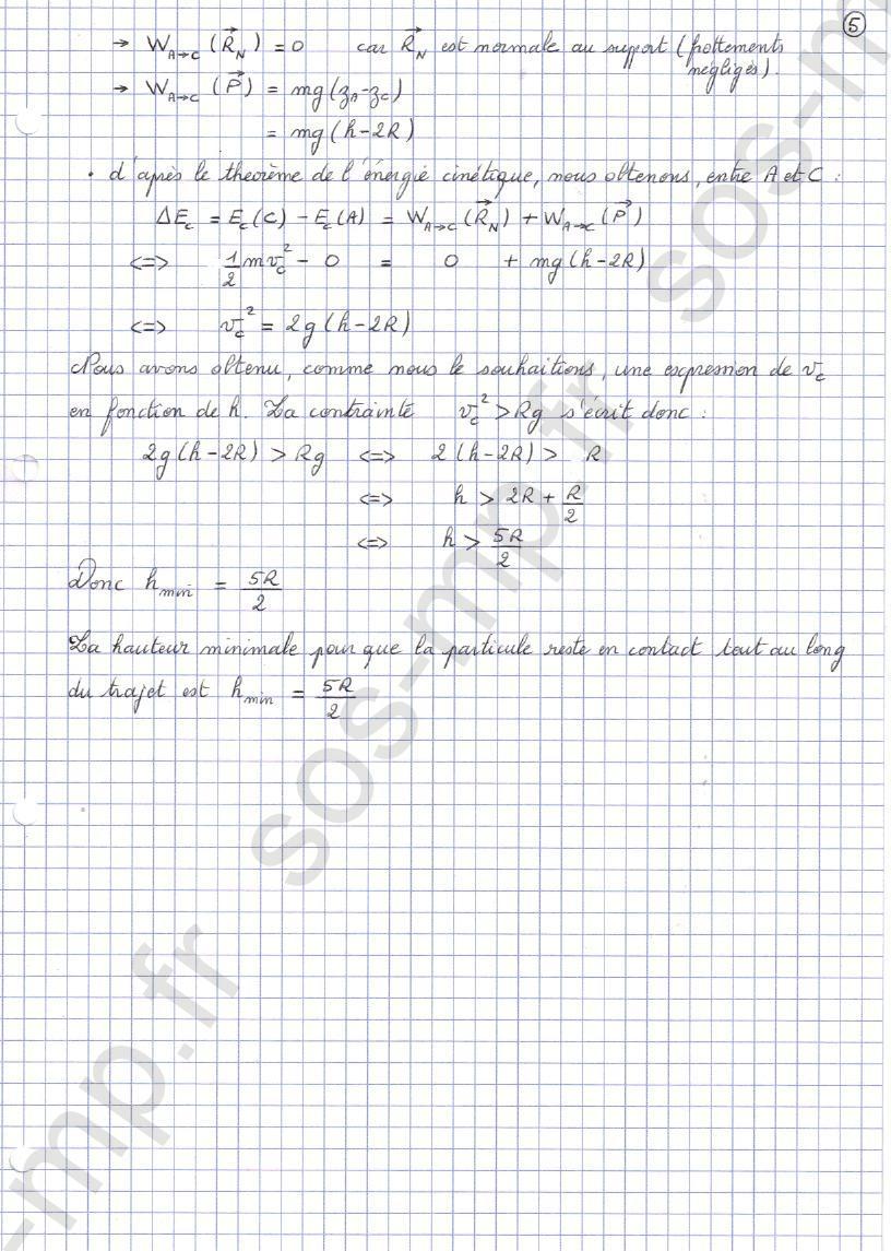 sos-mp.fr - Mécanique - Condition de contact - Exo8-5