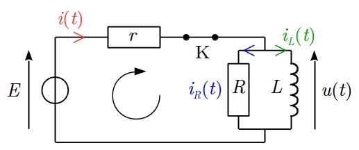 sos-mp.fr - BCPST2 - Électricité - Circuit RL parallèle - Ex5 - schéma6